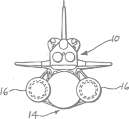 Sinnbild für die strategische Vorgehensweise bei Aufbau und Entwicklung einer Marke. Das Bild zeigt eine technische Zeichnung eines Space Shuttles in der Rückansicht.